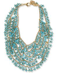 Rosantica Turquoise Bib Necklace - Blue