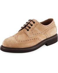 Brunello Cucinelli - Men's Brogue Lace-up Shoes - Lyst