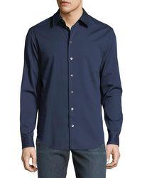 Emporio Armani - Basic Woven Cotton Sport Shirt - Lyst