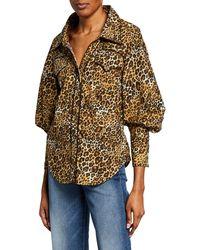 Johanna Ortiz - Leopard-print Poplin Oversize Shirt - Lyst