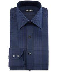Tom Ford - Men's Prince Of Wales Plaid Dress Shirt - Lyst