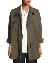 Urban Zen - Button-down Poplin Safari Jacket - Lyst