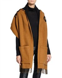 Burberry Helene Hooded Logo Wrap - Brown