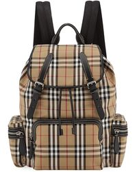 Burberry - Men's Rucksack Signature Check Backpack - Lyst