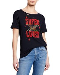 Current/Elliott - The Cg Distressed Cotton Graphic Tee - Lyst
