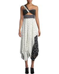 645dd4b6bdc A.L.C. - Aurora One-shoulder Pleated Dress - Lyst
