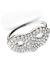 "Monica Rich Kosann | Unmasked"" Diamond White Gold Ring | Lyst"