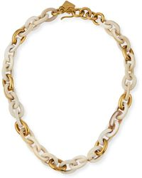Ashley Pittman - Meli Short Collar Necklace In Light Horn - Lyst