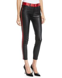 RTA - Ryland Two-tone Skinny Leather Pants - Lyst