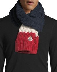 Moncler - Tricolor Knit Wool-blend Scarf - Lyst
