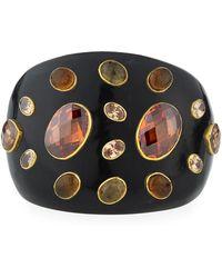 Ashley Pittman - Dola Dark Horn Cuff Bracelet - Lyst