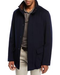 Loro Piana Winter Voyager Cashmere Storm System Coat - Blue