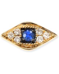 Sydney Evan - 14k Yellow Gold Diamond Evil Eye Single Stud Earring - Lyst
