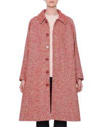 Tomas Maier - Diagonal-striped Button-front Wool-blend Coat - Lyst