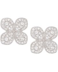 Jamie Wolf - Scallop Pave Petal Earrings With Diamonds In 18k White Gold - Lyst