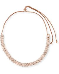 Fallon - Armure Pave Crystal Curb Chain Necklace - Lyst