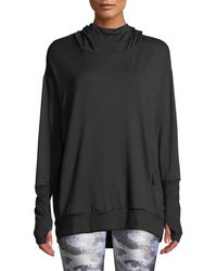 Terez - Hooded Cowl-neck Sweatshirt - Lyst