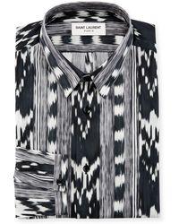 Saint Laurent - Ikat-print Dress Shirt - Lyst