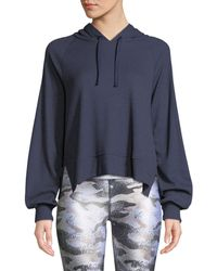 Terez - Waffle-knit Long-sleeve Pullover Hoodie - Lyst
