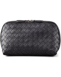 Bottega Veneta   Woven Leather Medium Cosmetic Case   Lyst
