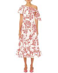 Carolina Herrera - Off-the-shoulder Floral Dress - Lyst