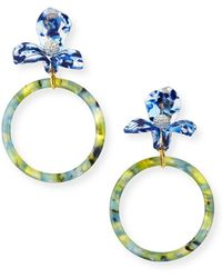 Lele Sadoughi Trillium Clip-on Hoop Earrings - Multicolour