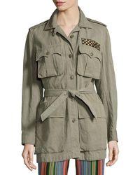 Figue - Embellished Safari Jacket - Lyst