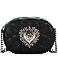 Dolce & Gabbana - Devotion Quilted Leather Camera Bag With Heart Medallion - Lyst