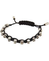 Alexander McQueen - Men's Skull Bead Friendship Bracelet - Lyst