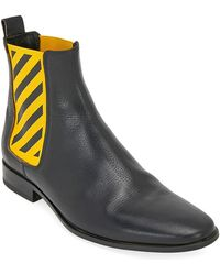Off-White c/o Virgil Abloh Black And Yellow Chelsea Boots
