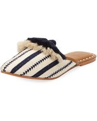 Figue Audrey Woven Tassel Mule Slide - Multicolor