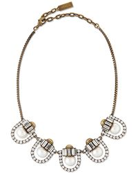 Auden - Lana Crystal-pearl-station Necklace - Lyst