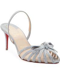 f5b83f7d99d Christian Louboutin Senora Patent T-strap Red Sole Sandal in Black ...