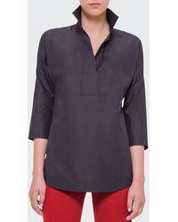 Akris Punto Elements Kimono-sleeve Blouse - Black