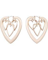 DANNIJO Yvette Heart Hoop Earrings - Metallic