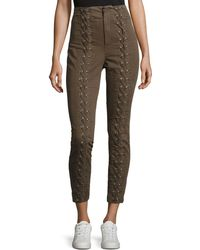 A.L.C. - Kingsley Lace-up High-waist Pants - Lyst