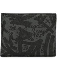 Bally - Bevye Graffiti-print Leather Wallet - Lyst