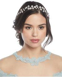 Jennifer Behr - Adelie Crystal Leaf Circlet Headband - Lyst