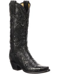 f12d014e3bb Lyst - Aquatalia Edlyn Shearling-Lined Knee-High Boots in Black