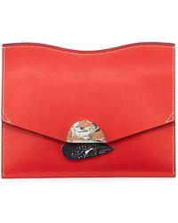 Proenza Schouler - New Medium Leather Clutch Bag - Lyst