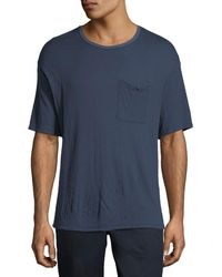 ATM - Double-faced Jersey T-shirt - Lyst
