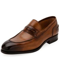 Ferragamo - Men's Special Edition Tramezza Calf Leather Penny Loafer - Lyst