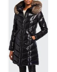 Moncler - Fulmarus Fur-trim Hood Chevron Puffer Coat - Lyst
