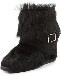 Gianvito Rossi - Flat Fur Ankle Boot - Lyst