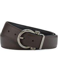 Ferragamo - Men's Parigi Reversible Leather Gancio-buckle Belt - Lyst