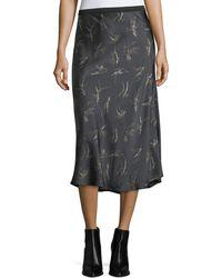 Vince   Spring-floral Midi Slip Skirt   Lyst