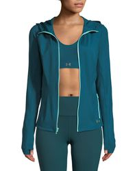 Under Armour - Breathelux Full Zip Hooded Performance Jacket - Lyst