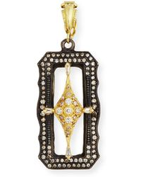 Armenta - Old World Scalloped Rectangle Crivelli Enhancer With Diamonds - Lyst