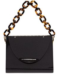Edie Parker Triangle Solid Acrylic Minaudiere - Black