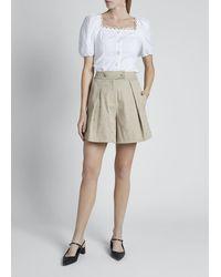 Erdem Tailored Rhinestone Shorts - Natural